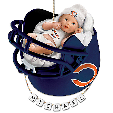 Christmas Ornament Chicago Bears Personalized Baby's First Christmas Ornament