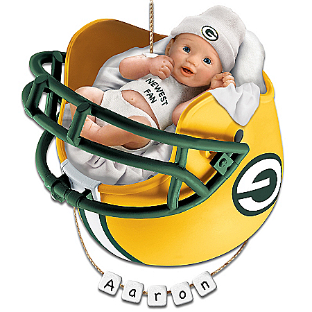 Green Bay Packers Personalized Baby's First Christmas Ornament by The Bradford Exchange Online - Lovely Exchange