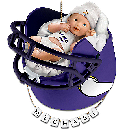 Minnesota Vikings Personalized Baby's First Christmas Ornament
