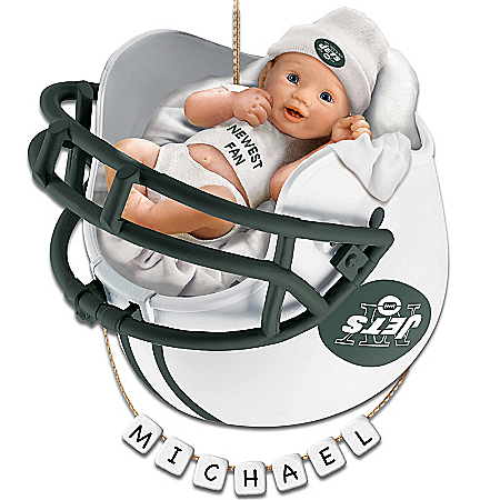 New York Jets Personalized Baby's First Christmas Ornament