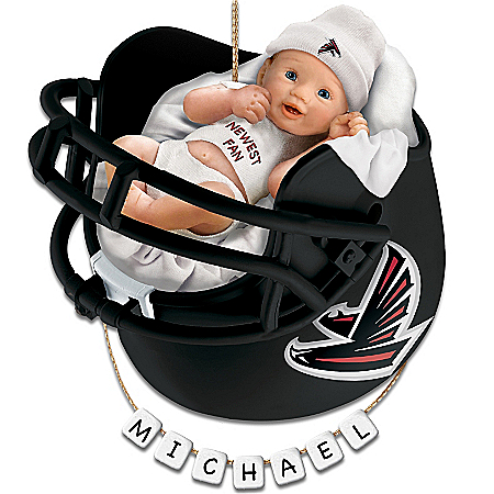 Atlanta Falcons Personalized Baby's First Christmas Ornament