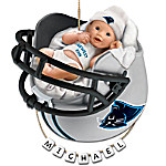Carolina Panthers Personalized Baby's First Christmas Ornament