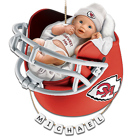 Kansas City Chiefs Personalized Baby's First Christmas Ornament