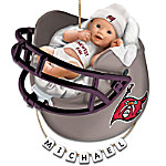 Tampa Bay Buccaneers Personalized Baby's First Christmas Ornament