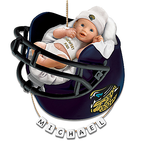 Jacksonville Jaguars Personalized Baby's First Christmas Ornament
