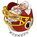 Washington Redskins Personalized Baby's First Christmas Ornament