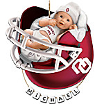Oklahoma Sooners Personalized Baby's First Christmas Ornament