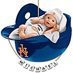 New York Mets Personalized Baby's First Christmas Ornament