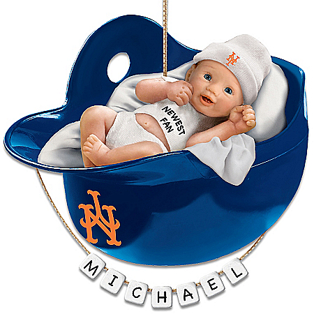 Photo of New York Mets Personalized Baby's First Christmas Ornament by The Bradford Exchange Online