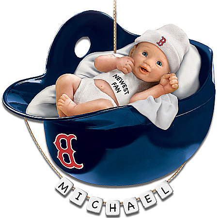 Photo of Boston Red Sox Personalized Baby's First Christmas Ornament by The Bradford Exchange Online
