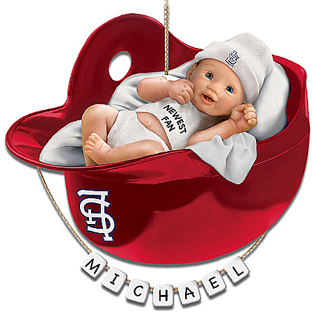 St. Louis Cardinals Personalized Baby's First Christmas Ornament