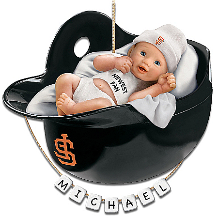 San Francisco Giants Personalized Baby's First Christmas Ornamen