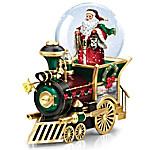 Thomas Kinkade Santa Claus Is Comin' To Town Musical Snowglobe Train Car