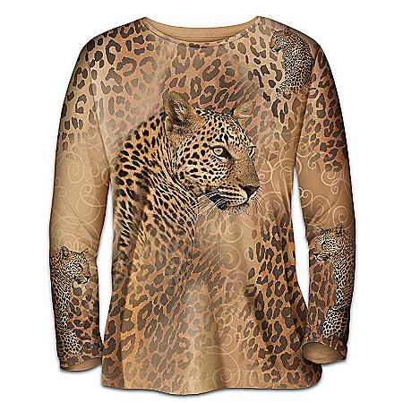 In The Spot-Light Women's Shirt With Leopard Artwork