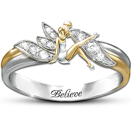 "Disney Tinkerbell Embrace The Magic"" Tinker Bell Ring"