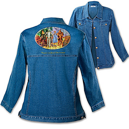 Wizard Of Oz Women's Denim Art Jacket