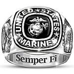 USMC Semper Fi Personalized Men's Ring