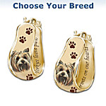 A Loyal Companion Dog Art Cuff Earrings