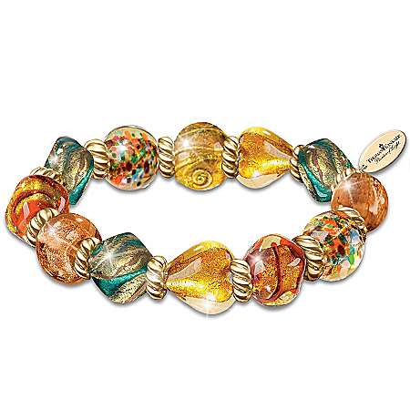 Thomas Kinkade Italian-Inspired Artisan Glass Bead Bracelet: Colors Of Venice
