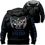 Open Road Men's Hoodie - Hooded Men's Jacket With Motorcycle Art