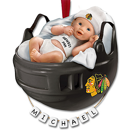 NHL Chicago Blackhawks® Personalized Baby's First Ornament