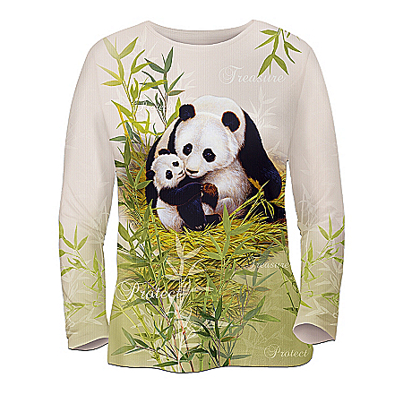 Panda Art Women's Shirt: Mother's Love