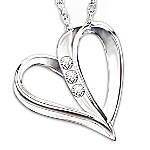 From Dad - My Daughter, My Heart, My Love 3-Diamond Pendant Necklace