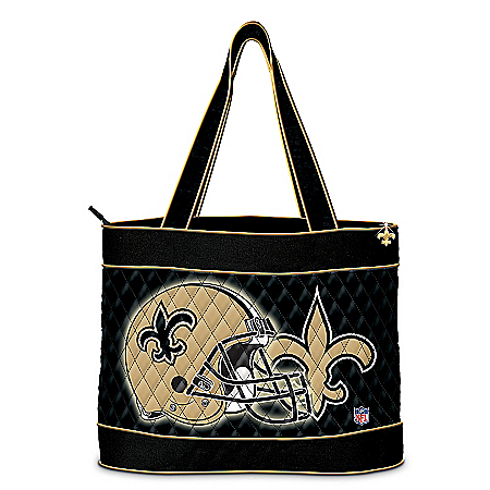 NFL New Orleans Saints Women's Tote Bag With Cosmetic Case