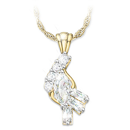 Fire And Ice Solid 10K Gold And Diamond Pendant Necklace