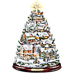 Thomas Kinkade Christmas Tabletop Tree - Songs Of The Season