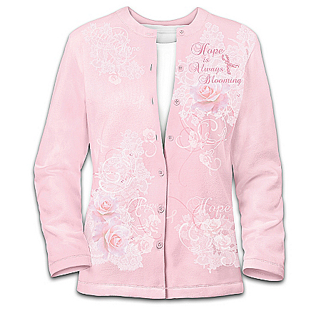The Beauty Of Hope: Breast Cancer Support Women's Cardigan Sweater