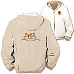 Loyal Companion Pomeranian Women's Fleece & Microfiber Reversible Jacket