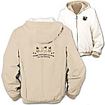 Loyal Companion Pug Women's Fleece & Microfiber Reversible Jacket