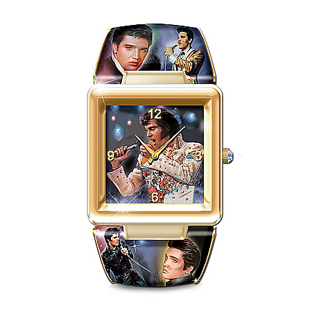 Elvis Presley Art Cuff Watch: The King Of Rock 'N' Roll