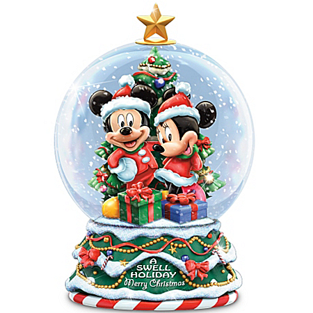 Musical Snow Globes Disney A Swell Holiday Miniature Snowglobe