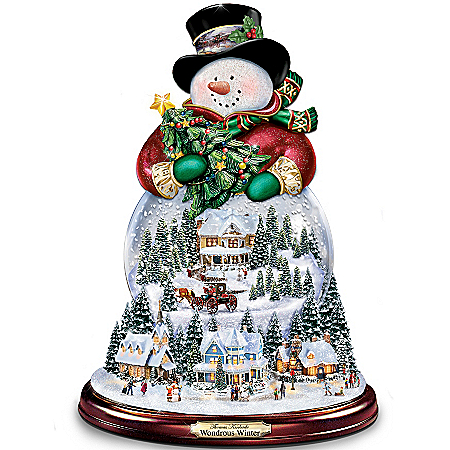 Musical Snow Globes Thomas Kinkade Wondrous Winter Musical Snowman Snowglobe