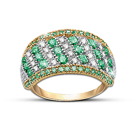"""Rare Beauty"" Emerald And Diamond Eternity Ring"