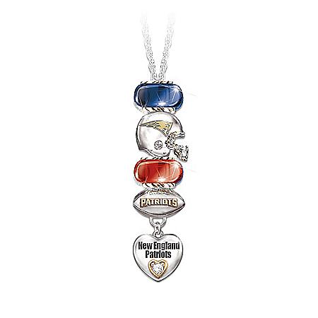 Go Patriots! #1 Fan Charm Necklace