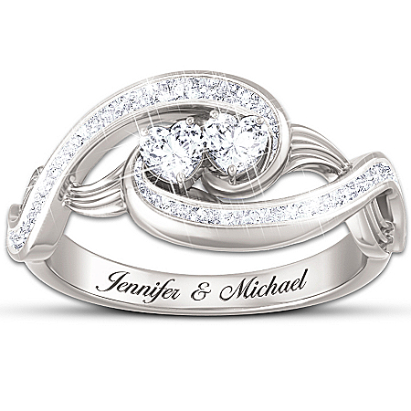 """Always Together In Love"" Topaz Personalized Ring - Personalized Jewelry"