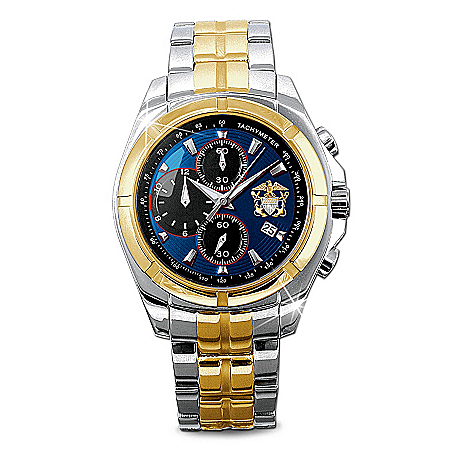 Commemorative U.S. Navy Men's Chronograph Watch