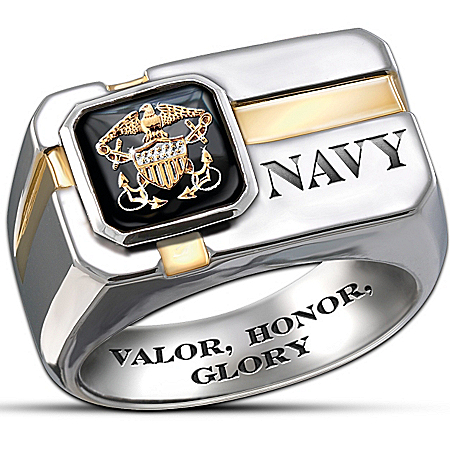 U.S. Navy Men's Ring: For My Sailor by The Bradford Exchange Online - Lovely Exchange
