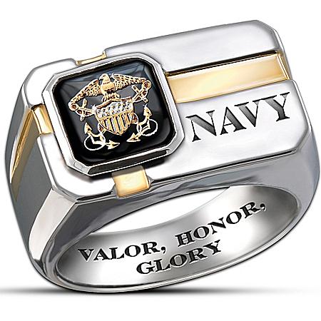 U.S. Navy Men's Ring: For My Sailor