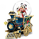 Disney Mickey Mouse Miniature Snowglobe - Santa Mouse Is Comin' To Town