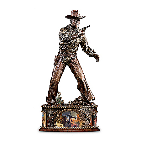 John Wayne Collectible Sculpture: Taming The West