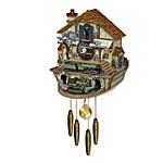 Steam Engine Train Cuckoo Clock - The Flying Scotsman Memories Of Steam
