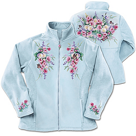 Lena Liu Plates Lena Liu Blossoms And Butterflies Women's Jacket