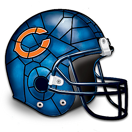 Photo of The Chicago Bears Louis Comfort Tiffany-Style Accent Lamp by The Bradford Exchange Online