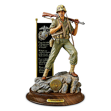 United States Marine Corps Pride Sculpture by The Bradford Exchange Online - Lovely Exchange