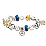 NFL San Diego Chargers #1 Fan Charm Bracelet: Go Chargers!
