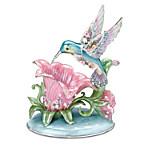 Lena Liu Porcelain Hummingbird Accent Lamp - Radiant Gardens